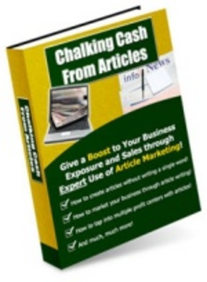 Product picture MakeMoneyOnline - Chalking cash from articles